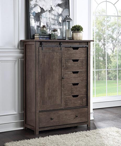 Oak finish armoire