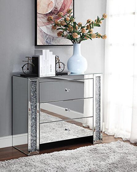 Mirrored & faux diamonds console table, mirrored & faux diamonds