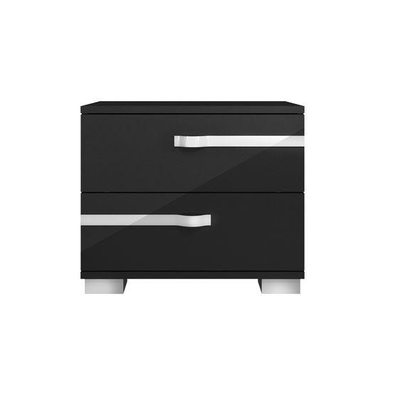 Modern black high-gloss night stand
