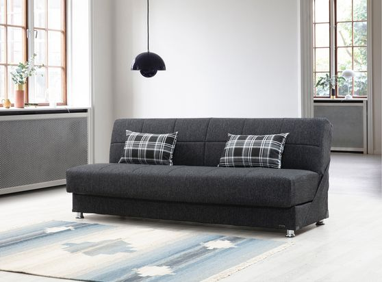 Microfiber modern black sleeper sofa