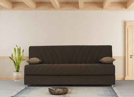 Fabric sofa bed w/ storage