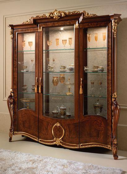 Luxury traditional / neo-classical Italian 3-door china