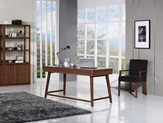 Mid-century style walnut desk
