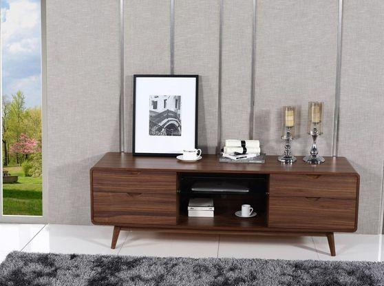 Mid-century style walnut TV Stand