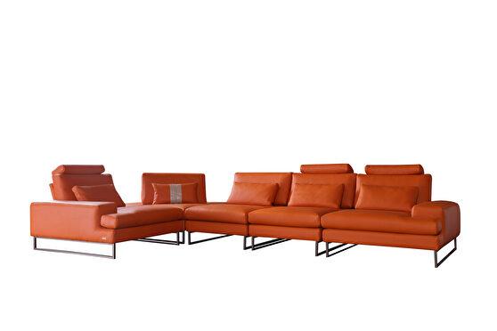 Franco orange 5pcs motion modular sectional sofa