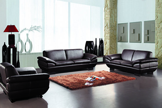 Sorrento brown top grain leather sofa