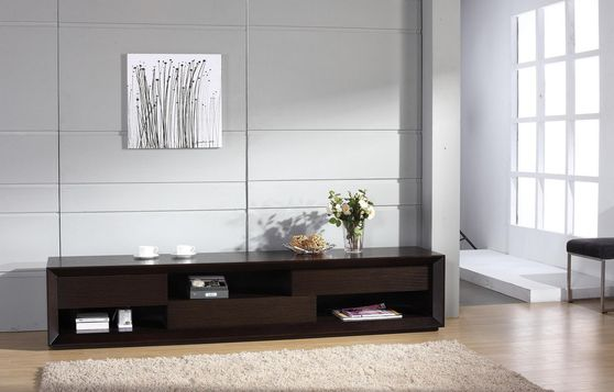 Modern extra-long wenge tv stand