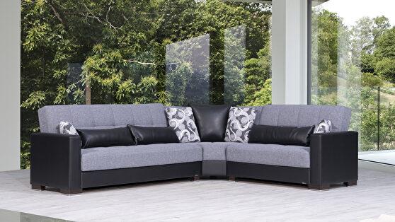 Reversible sleeper / storage sectional sofa