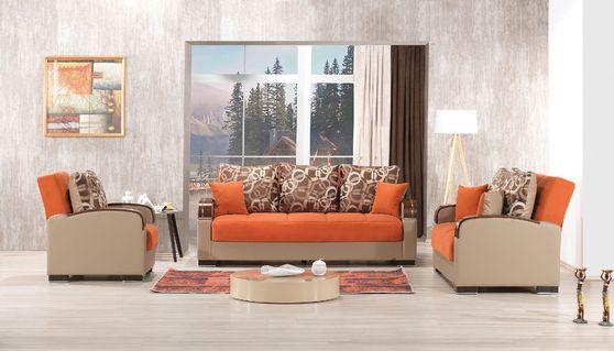 Chenille fabric modern sofa / sofa bed w/ storage