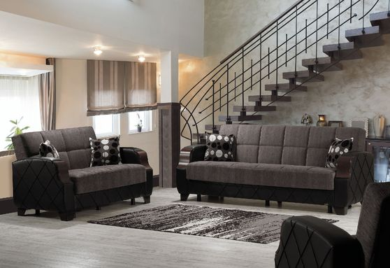 Floket gray sofa bed w/ storage