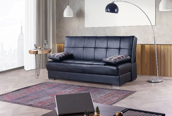 Comfortable affordable sofa bed in fabric