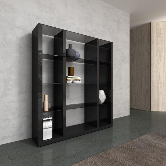 Modular gray/glass wall-unit / display