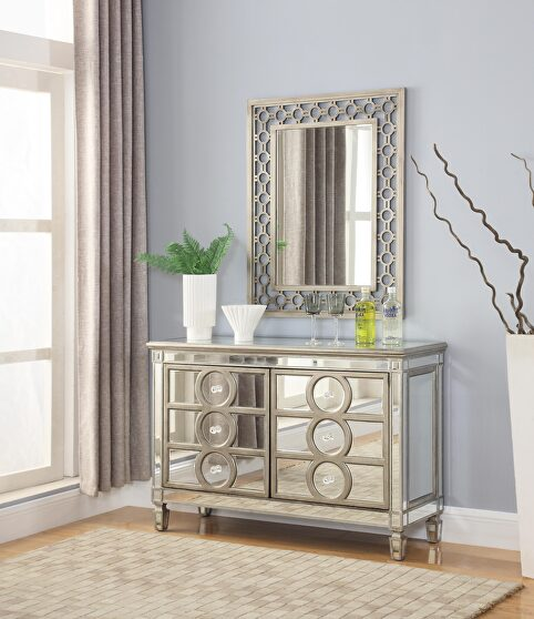Contemporary style mirrored style server / buffet