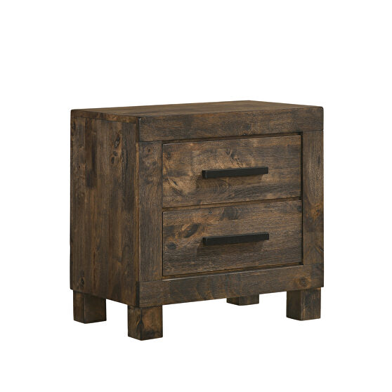Rustic golden brown finish  nightstand