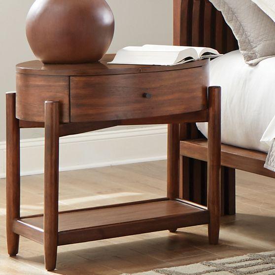 Night stand in mahogany teak wood