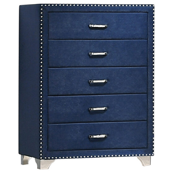 Pacific blue velvet chest
