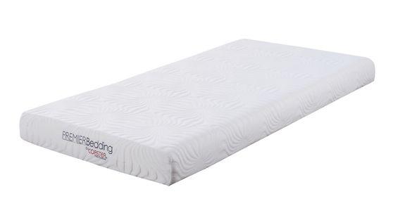 White 6-inch twin memory foam mattress