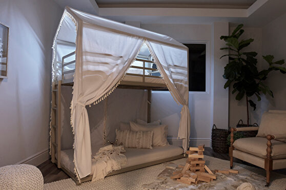 Twin/twin led bunk bed
