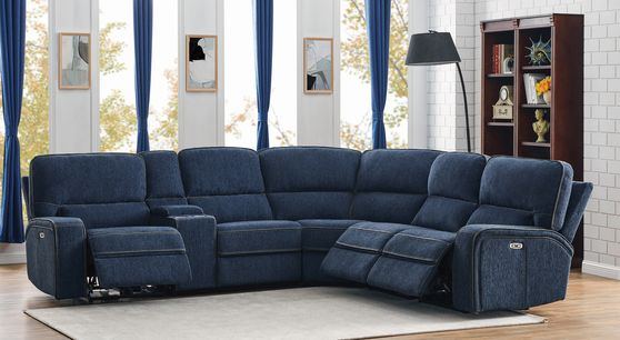 6 pc power2 sectional in performance chenille fabric