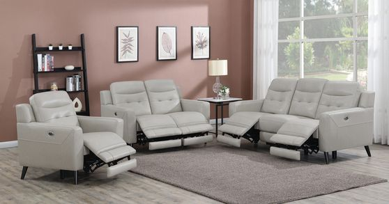 Power sofa in beige leather / pvc