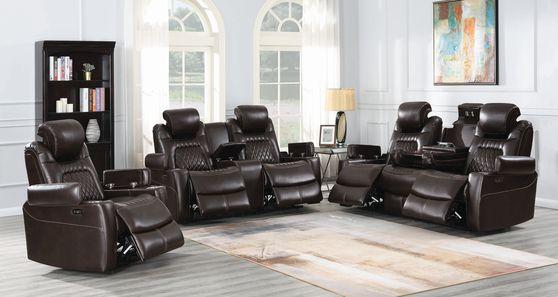 Power2 sofa in top grain espresso leather