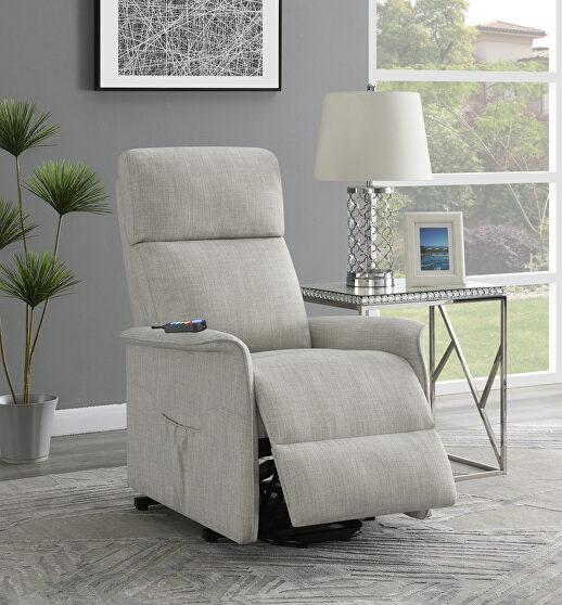 Power lift massage chair in beige