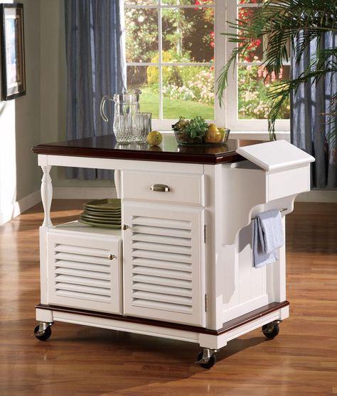 Modern kitchen cart / island on wheels