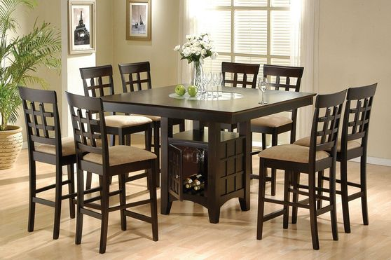 Square large counter hight dining table