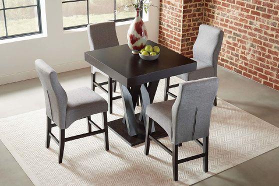 Contemporary cappuccino counter-height  table