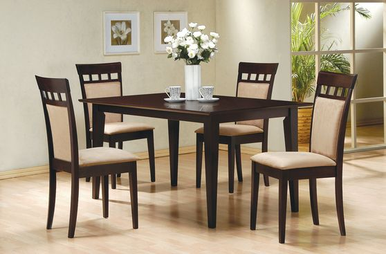 Rectangular cappuccino wood dining table