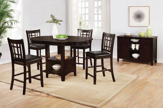 Cappuccino finish counter hight dining set