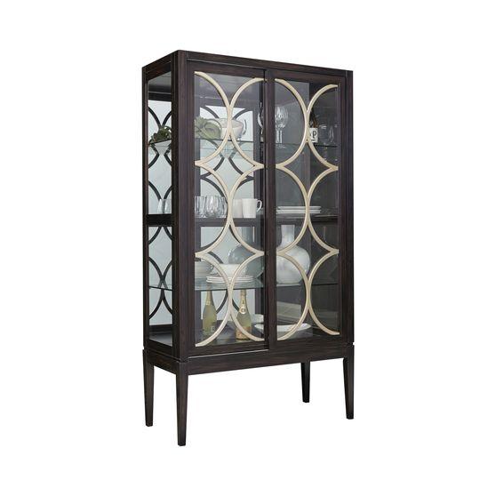 Curio cabinet in dark brown