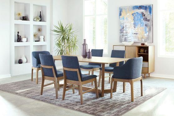 Scandinavian style gray oak dining table