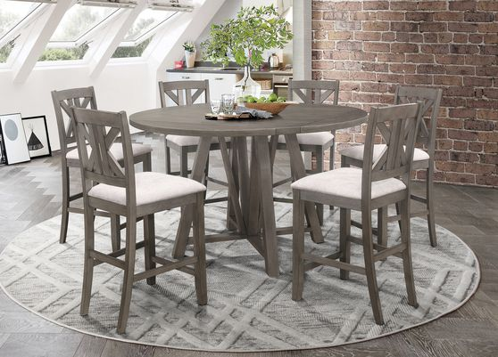 Counter round table in gray farmhouse style