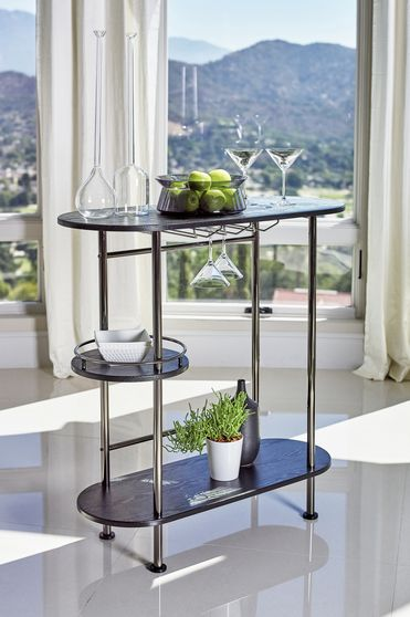 Bar unit in black / metal