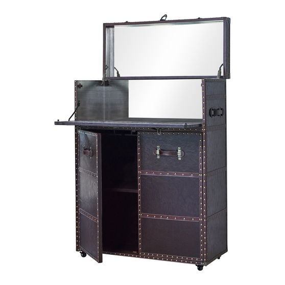 Bar cabinet in old fashion chest style