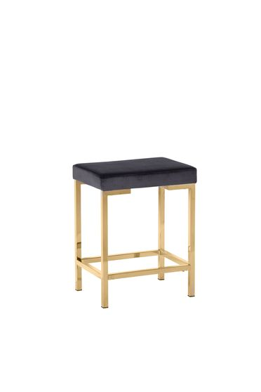 Counter height stool in gray velvet