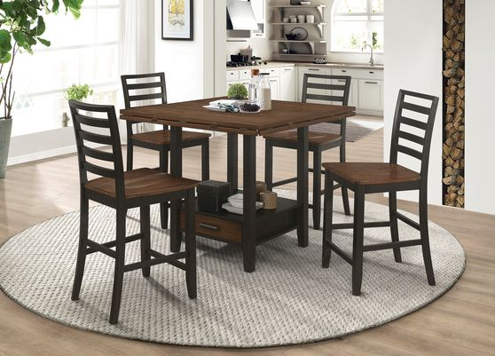 Cinnamon / cappuccino round / leaf counter height table