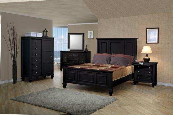 Black veneer classic casual bed