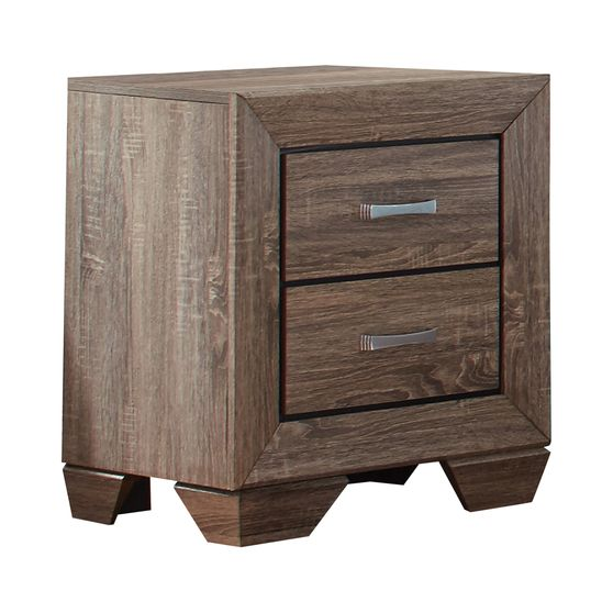 Transitional two-drawer nightstand