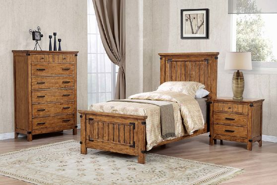 Rustic honey storage twin bed