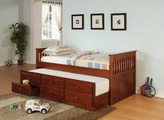 Cherry solid wood twin size daybed w/ trundle