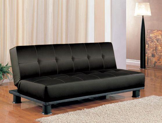 Elegant klik-klak sofa bed in black