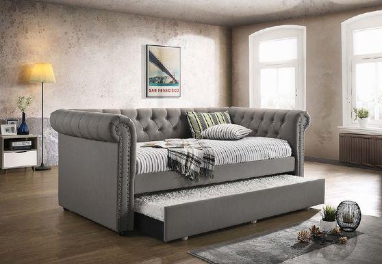 Kepner grey chesterfield daybed