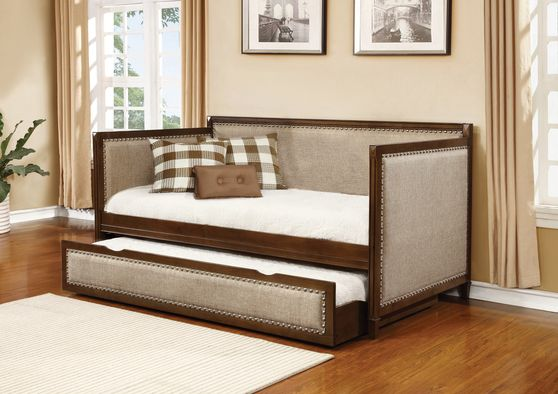 Oatmeal fabric daybed