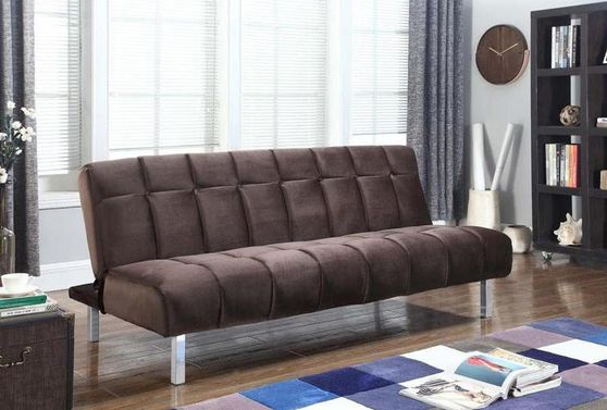 Casual brown velvet fabric sofa