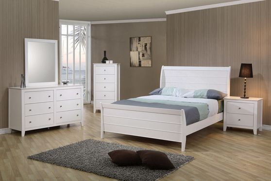 Selena twin sleigh bed