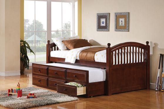 Classic twin cherry daybed with trundle