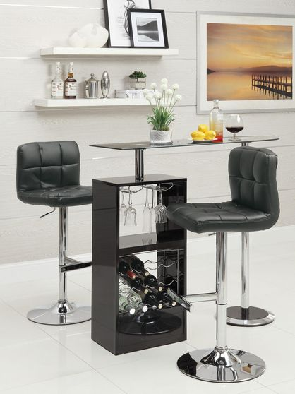 Elegant small bar glass in black