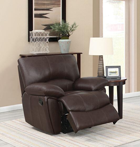 Clifford motion dark brown glider recliner